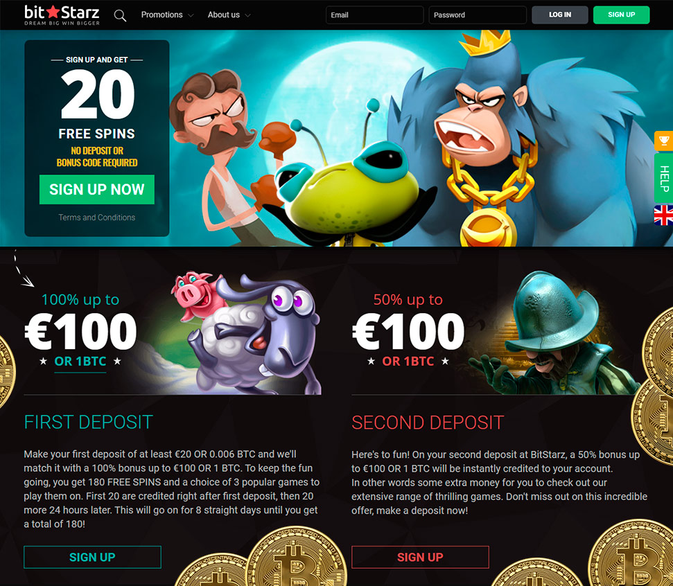 No deposit free sign up bonus online bitcoin casino