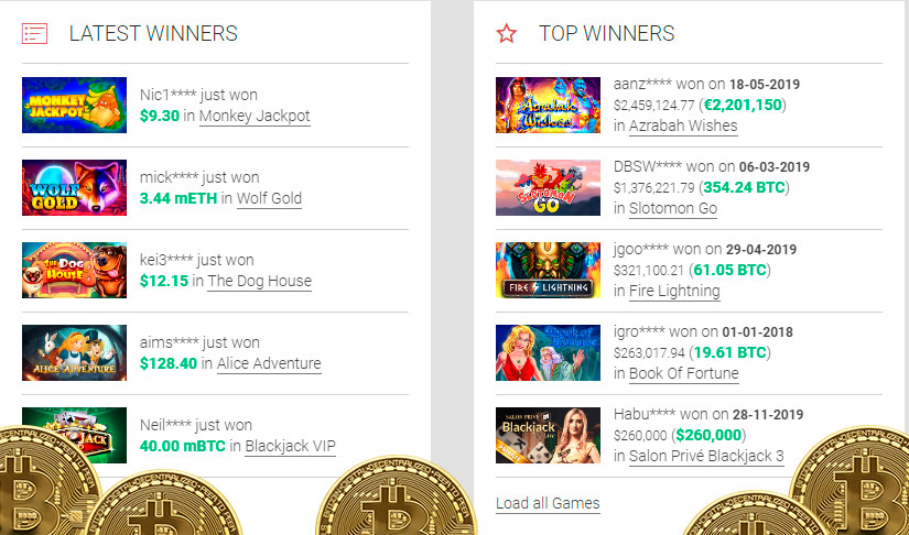 Payout at bitcoin roulette